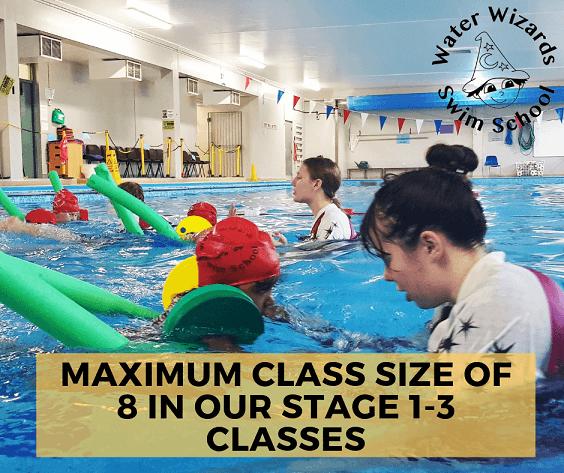 Children's swimming lesson in small classes in Northampton