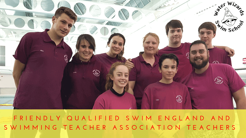 Happy swimming teachers at Water Wizards Swim School Northampton